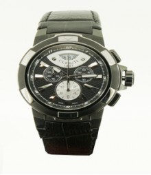 Cerruti Mens Black Dial Color Chrono Watch - CT-504