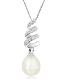 Tanya Rossi Spiral Pearl Palermo Pendant TRP0002.WH