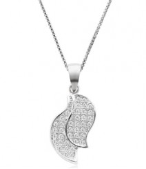 Tanya Rossi Double Leaves Fantasy Ferenze Pendant  TRP0007.WH