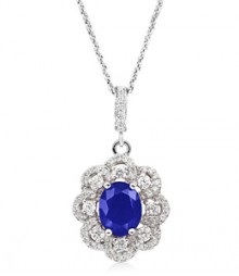 Tanya Rossi Roma Rocks Solitaire Blue Pendant  TRP0009.BL