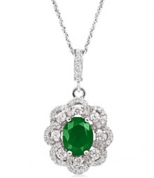 Tanya Rossi Roma Rocks Solitaire Green Pendant  TRP0010.GR