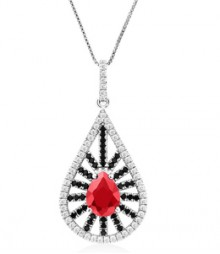 Tanya Rossi Fantasy Ferenze Pave Multi Pendant  TRP0020.RD