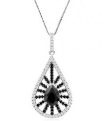 Tanya Rossi Fantasy Ferenze Black Sterling Silver Pendant  TRP0021.BK