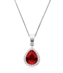 Tanya Rossi Solitaire Roma Rocks Red Oval Pendant  TRP0024.RD