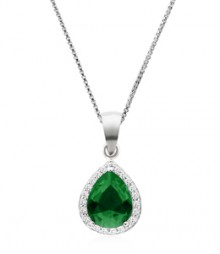Tanya Rossi Solitaire Roma Rocks Green Oval Pendant  TRP0026.GR