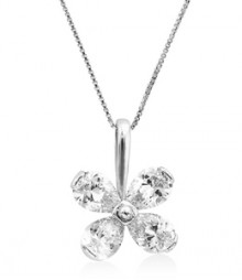 Tanya Rossi Tivoli Solitaire Sterling Silver Pendant  TRP0032.WH