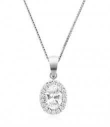 Tanya Rossi Roma Rocks Pave Round Sterling Pendant  TRP0034.WH