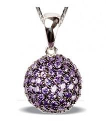 Tanya Rossi Purple-Silver Pendant TRP161A