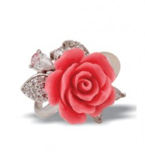 Tanya Rossi Pink Coral Sterling Silver Rings TRR177B