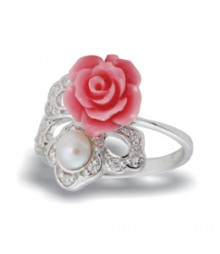 Tanya Rossi Stylish Coral Sterling Silver Rings TRR178A