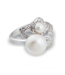 Tanya Rossi Pearl Sterling Silver Rings TRR178F
