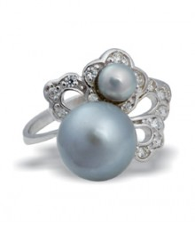 Tanya Rossi Pearl Grey Sterling Silver Rings TRR178G