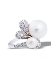 Tanya Rossi Sterling Silver Coral White Rings TRR179D