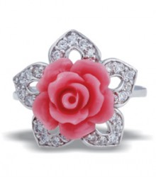 Tanya Rossi Pink Flower Rings TRR181A