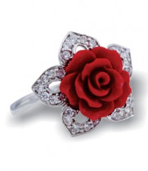 Tanya Rossi Dark Red Sterling Silver Rings TRR181G