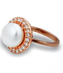 Tanya Rossi White Pearl Stylish Rings TRR206A