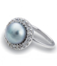 Tanya Rossi Grey Pearl Stylish Rings TRR206C