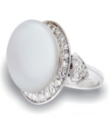 Tanya Rossi Sterling Silver Pearl White Rings TRR207C