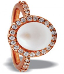 Tanya Rossi White Rose Gold Sterling Silver Rings TRR211C