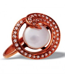 Tanya Rossi Sterling Silver Rose Gold Rings TRR213A