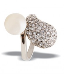 Tanya Rossi White Pearl Sterling Silver Rings TRR216B