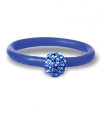 Tanya Rossi Blue Silicone Rings TRR229A