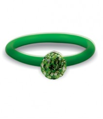 Tanya Rossi Green Silicone Rings TRR230A