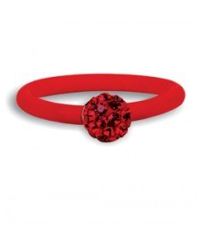 Tanya Rossi Red Silicone Rings TRR232A