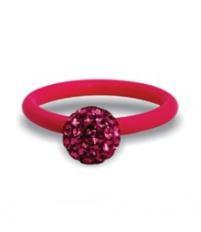 Tanya Rossi Pink Silicone Stylish Rings TRR233A