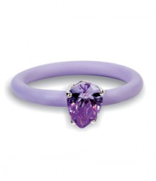 Tanya Rossi Light Purple Silicone Rings TRR234A