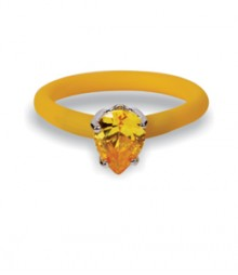 Tanya Rossi Studded Yellow Silicone Rings TRR235A