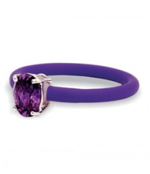 Tanya Rossi Studded Silicone Purple Rings TRR238A