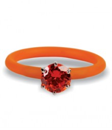 Tanya Rossi Silicone Orange Rings TRR242A