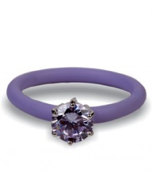 Tanya Rossi Silicone Light Purple Rings TRR243A