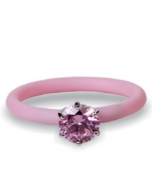 Tanya Rossi Silicone Pink Studded Rings TRR244A