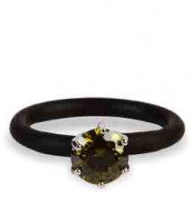 Tanya Rossi Black Silicone Rings TRR245A