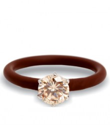 Tanya Rossi Studded Brown Silicone Rings TRR246A