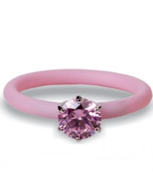 Tanya Rossi Stylish Pink Silicone Rings TRR296A