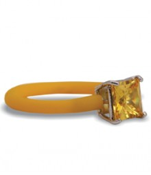 Tanya Rossi Stylish Yellow Silicone Rings TRR297A