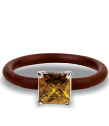 Tanya Rossi Beautiful Brown Silicone Rings TRR299A
