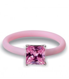 Tanya Rossi Studded Pink Silicone Rings TRR300A