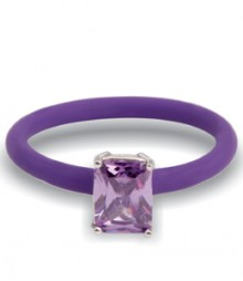 Tanya Rossi Beautiful Purple Stylish Silicone Rings TRR302A