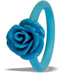 Tanya Rossi Blue Silicone Rings TRR306A