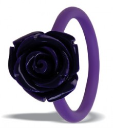 Tanya Rossi Purple Silicone Rings TRR307A