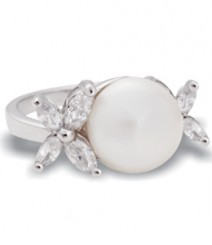 Tanya Rossi Pave Pearl Sterling Silver Rings TRR314A