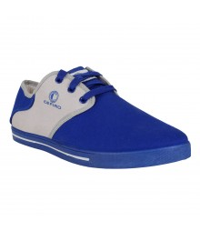 Cefiro Royal Blue Grey Casual Shoes Fun for Men - CCS0006