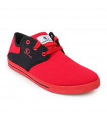 Cefiro Men Casual Shoes Fun01 Red Black CCS0007