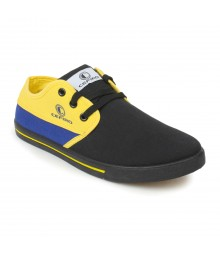 Cefiro Men Casual Shoes Fun02 Black Moon Yellow CCS0008