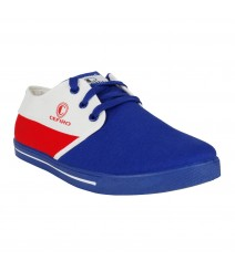 Cefiro Royal Blue Red White Casual Shoes Fun for Men - CCS0009