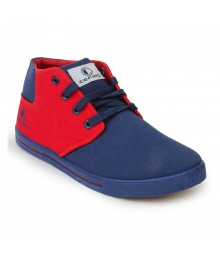 Cefiro Men Casual Shoes Fun03 Navy Blue Red CCS0013